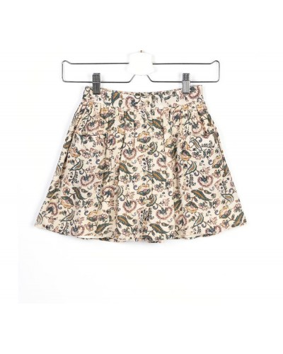 brown flowers skirt luna