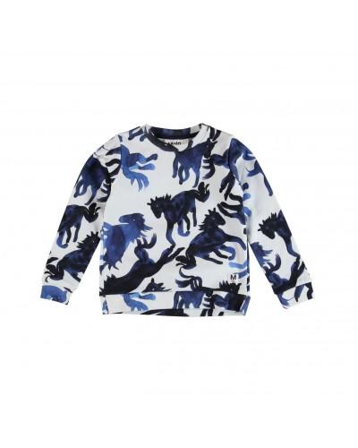 blauwe paarden trui