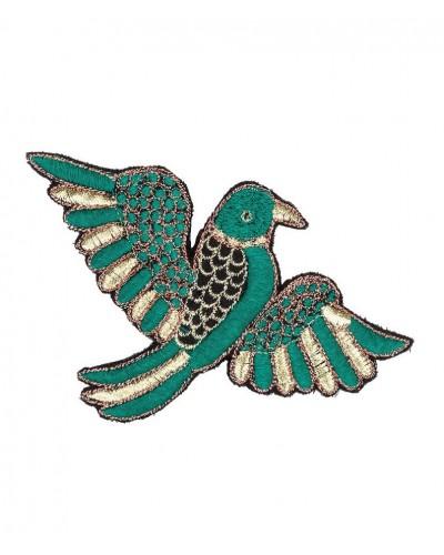 broche vogel groen