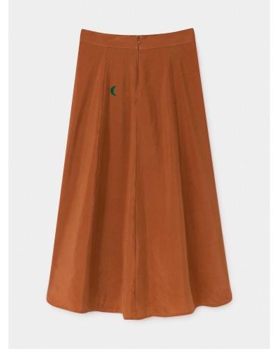 saturn blue midi skirt