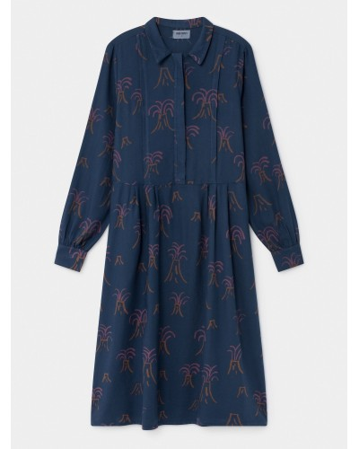 blauwe jurk vulkanen