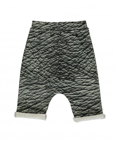black baggy short elephant skin