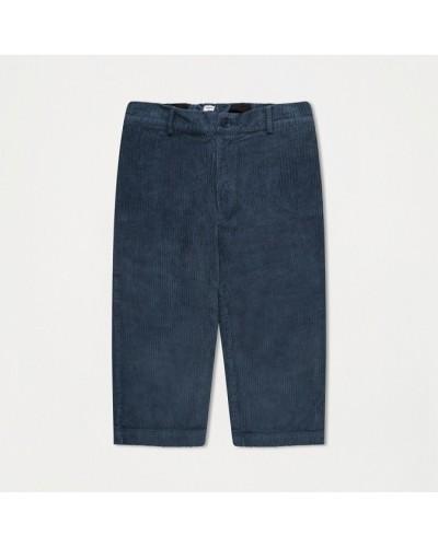 blauwe rib velours broek