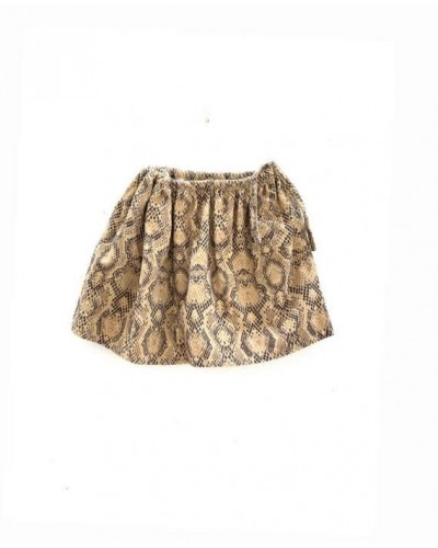 brown skirt snake print
