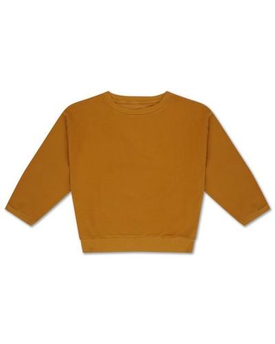 gele crewneck sweater