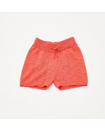 red knitted shorts