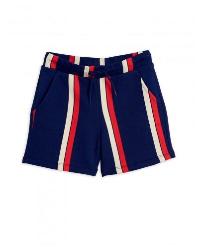 blauw-rood gestreepte short