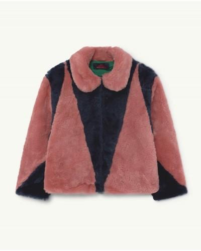 blauw roze jas