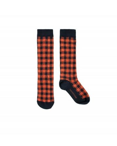 blauw rood geruite sokken