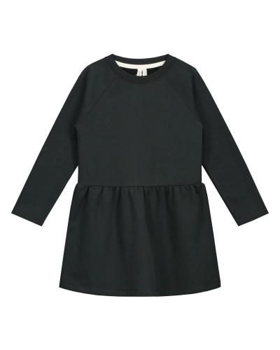 black fleece dress