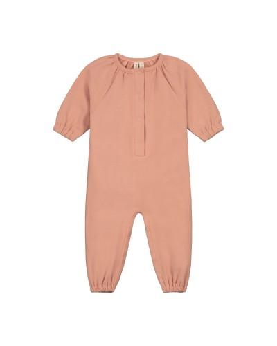 pink baby fleece romper