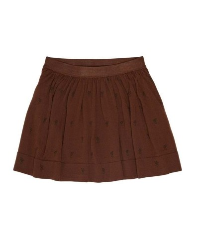 brown knitted skirt