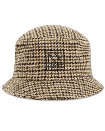 checkered hat green black