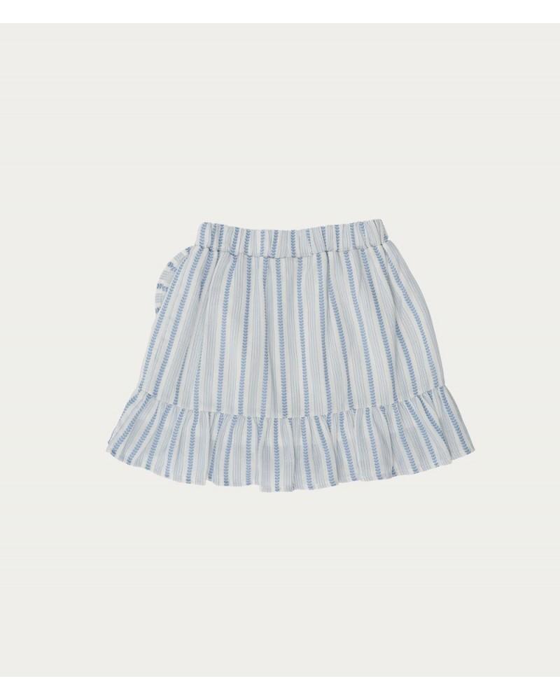 blauw gestreepte rok