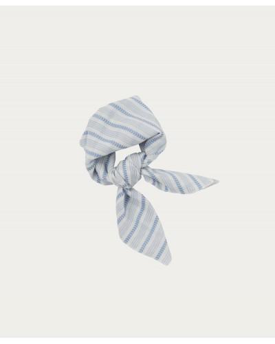 blauw gestreepte sjaal