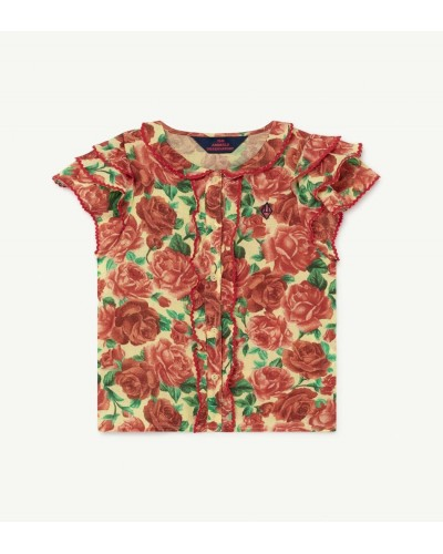 red flowers blouse