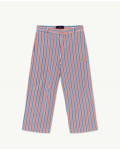 blue red striped trousers