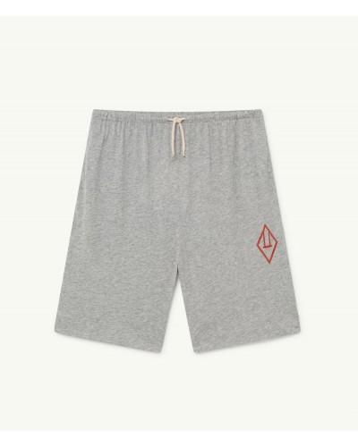 grey logo shorts