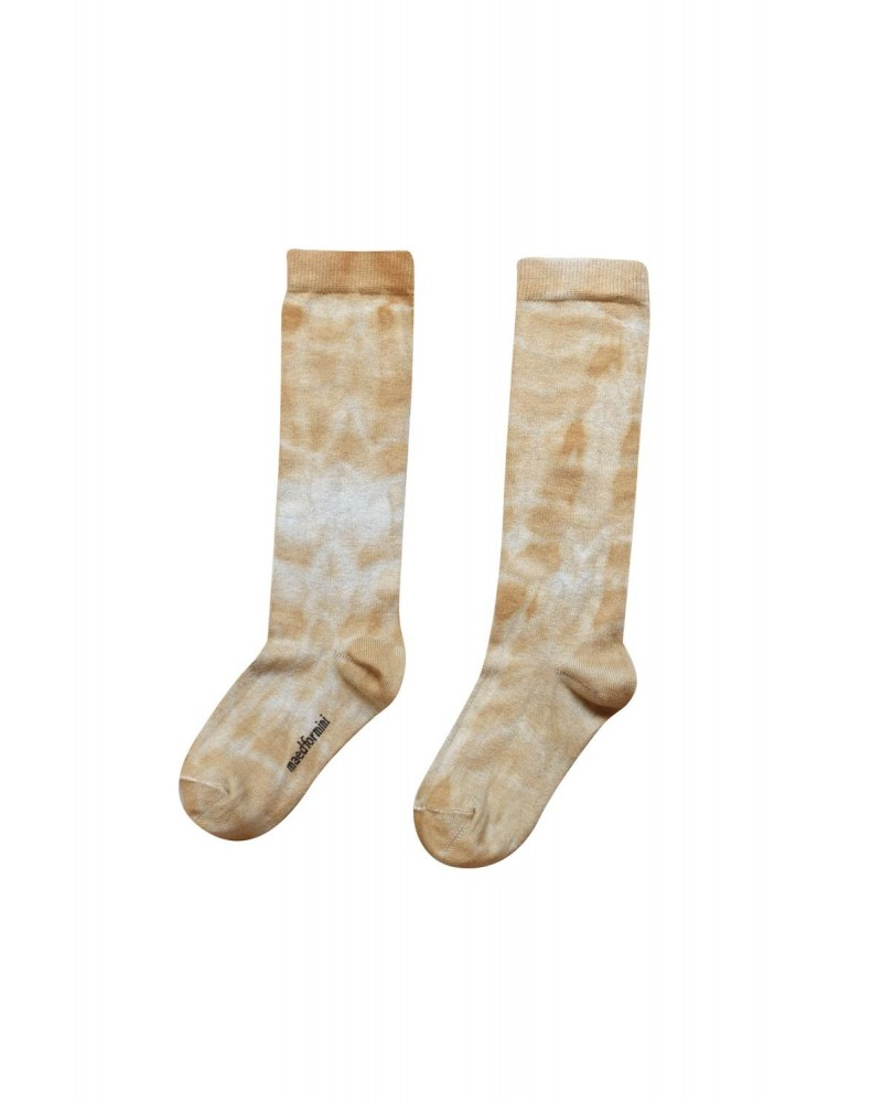 brown tie dye socks