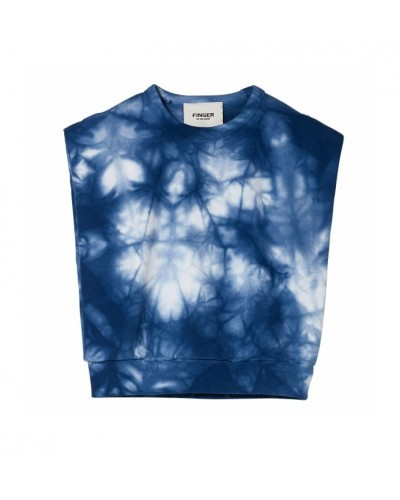 blauwe sweater coral