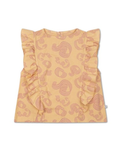 yellow blouse curl