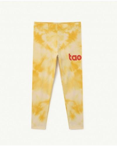 yellow tie-dye legging