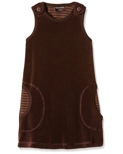 brown velours dress