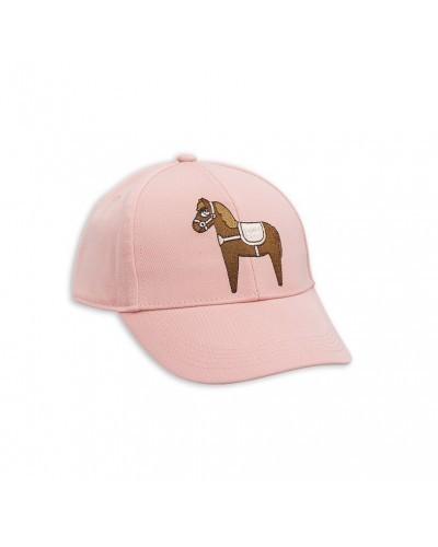 pink cap horse