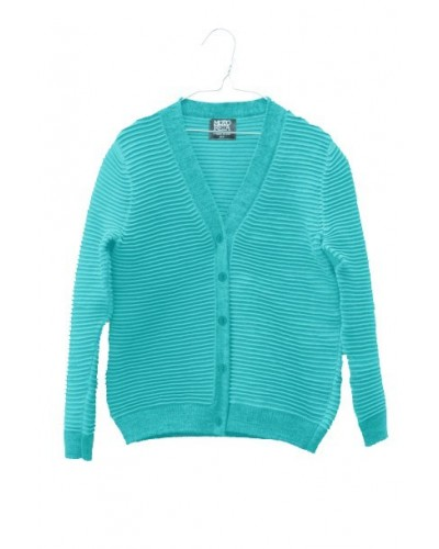 blue turquoise cardigan lined