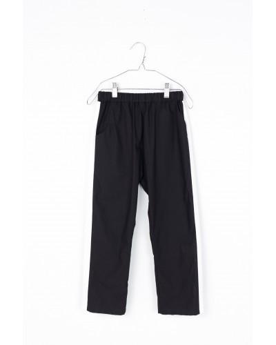 black pants white line