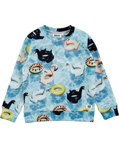blauwe opblaasdieren trui