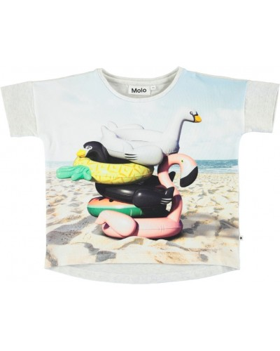 grijze t-shirt strand dieren
