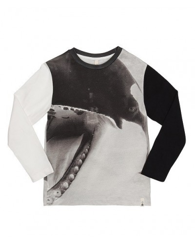 black killer whale tee ls