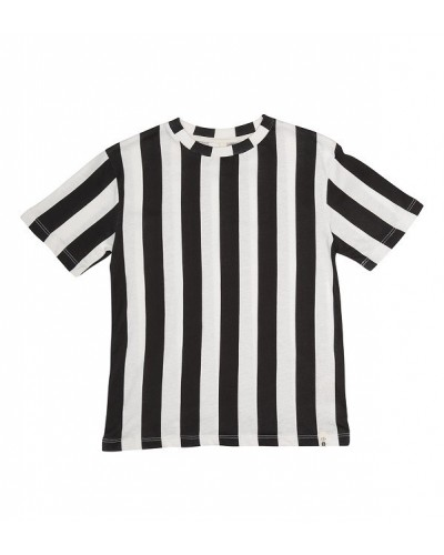 black white striped tee ss