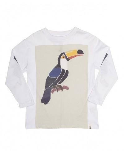 white toecan t-shirt ls