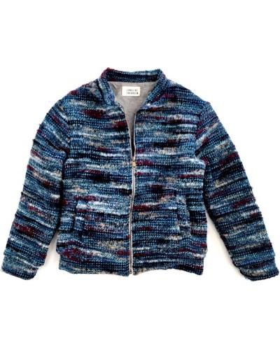 blauw jasje tweed
