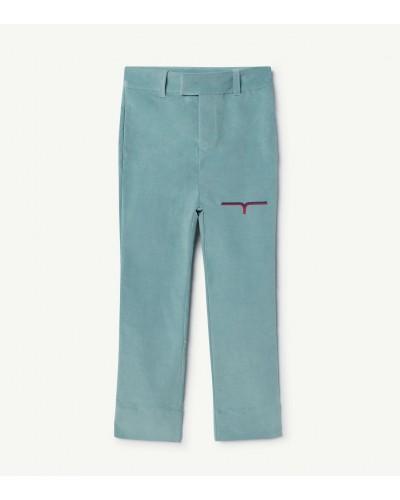 blauwe broek velours