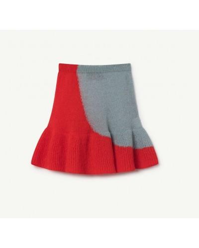 blauw rode rok swan