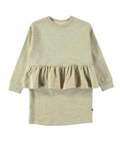 golden sweatshirt dress