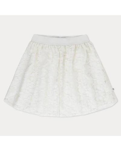 white lace skirt flowers