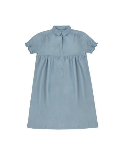 blauwe jurk lang