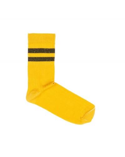 yellow stripe sparkle socks